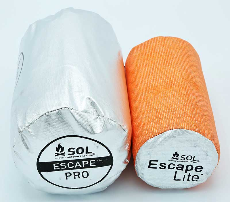 SOL Escape Pro Bivvy is larger than Lite Bivvy. It can easily be used as backpack liner and take up less space.
