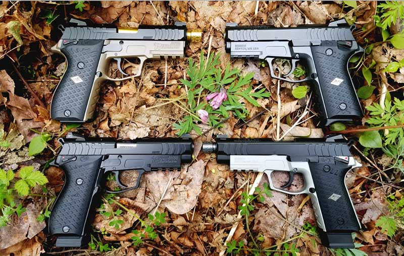Lionheart produces two basic 9mm Regulus frames: Alpha and 1911 profile Beta, each totally interchangeable with its long and compact slide groups. Here are four of several combinations from which to choose.