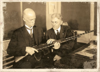 John Browning with his BAR. Rifle served the U.S. in World War II and Korea and armed our allies in Vietnam.