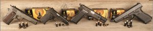Author ran new Browning line of pistol ammunition through these four platforms. The 1911A1 and Browning Hi-Power are 70 years old, while <a href=